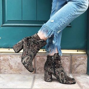 Shoes - Nordstrom BP Velvet Paisley Booties